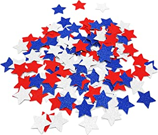 Star Confetti Red Silver Blue Star Confetti 4th of July Table Decorations Wedding Baby Shower Birthday Party Decorations Supplies Set of 150