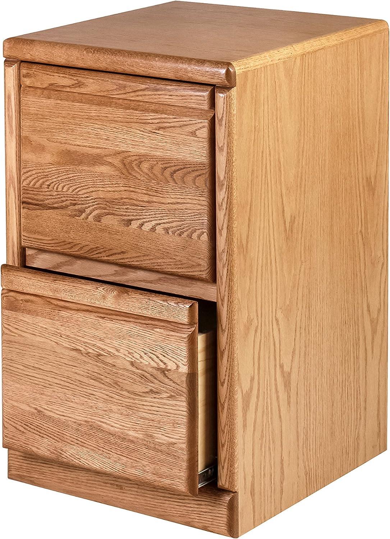 入手困難 Forest Designs File Cabinet 売り出し 30h Red Drawers Two Oak