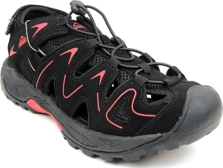 McKinley Men's Zipper Sandal Toe 246003 Black