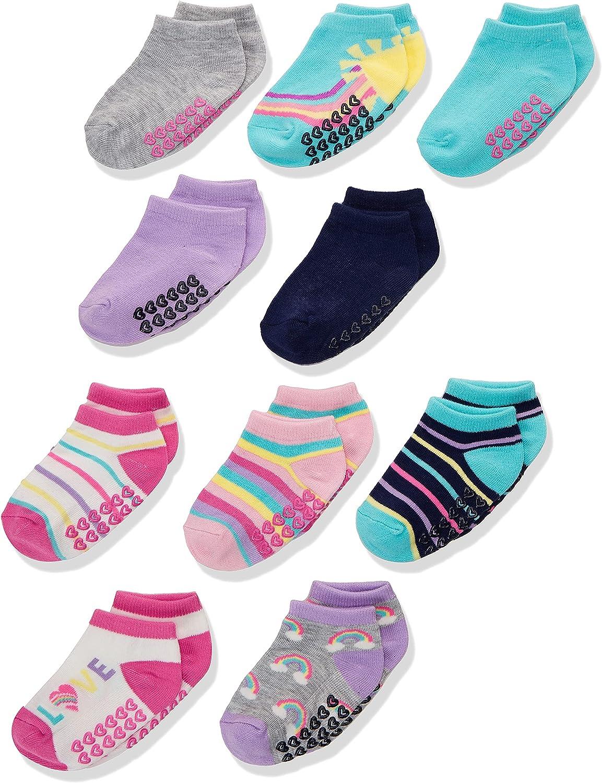 The Children's Place girls Toddler Rainbow Ankle Socks 10-pack