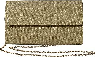 Women's Evening Bag Clutch Purse Glitter Party Wedding Handbag with Chain