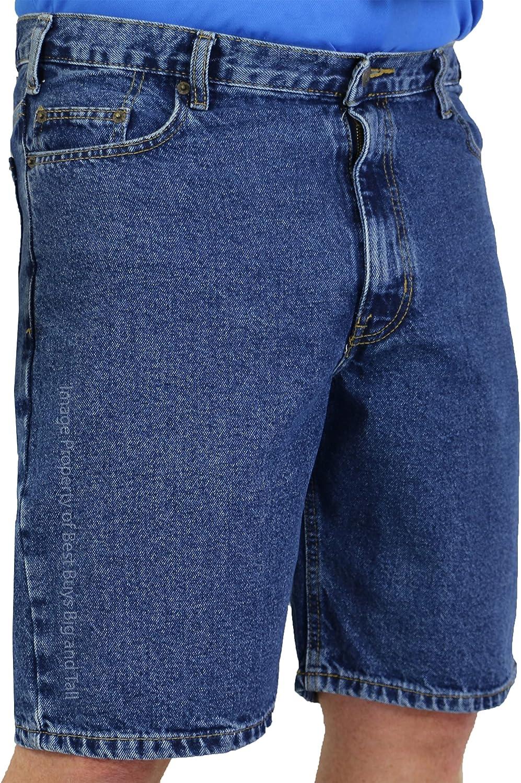 ROCXL Big & Tall Sizes 42 – 72 Men's Denim Shorts 5-Pocket (Medium Blue, 70, 8X)