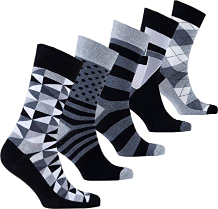 491a8e426 Socks n Socks-Mens 5pair Luxury Colorful Cotton Fun Novelty Dress Socks  Gift Box