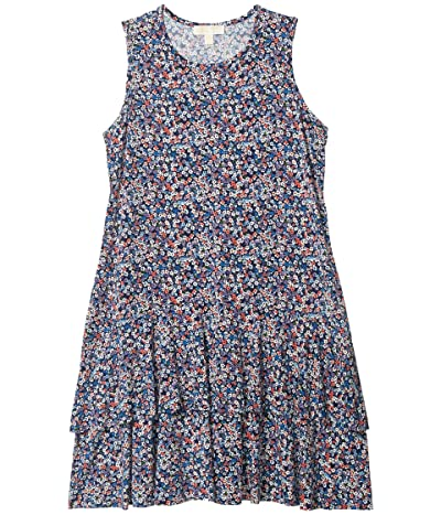 MICHAEL Michael Kors Plus Size Dainty Bloom Flounce Dress (Coral Peach) Women