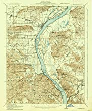 Illinois Maps - 1916 Shawneetown, IL USGS Historical Topographic Map - Cartography Wall Art - 35in x 44in