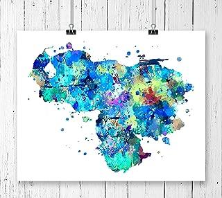 Venezuela Map Art Print, Poster, Wall Art, Contemporary Art, Modern Wall Decor, Office Decor ( UNFRAMED)