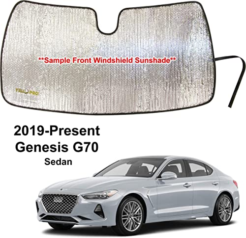 new arrival YelloPro Custom Fit Front Windshield Reflective Sunshade for 2019 outlet sale 2020 2021 Genesis G70 Sedan, Sun Shade Protector Accessories [Made online sale in USA] online sale