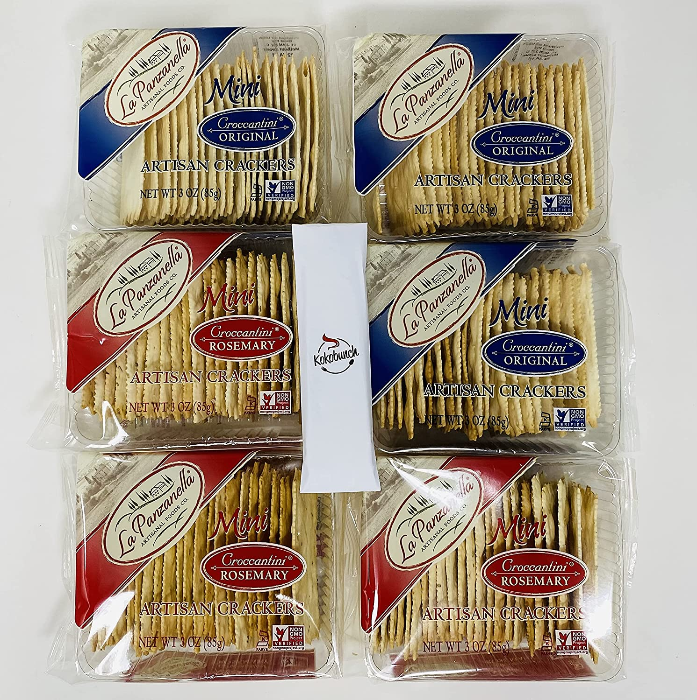 La Panzanella Artisan Max 67% Elegant OFF Crackers Variety Bundle Croccantini Mini
