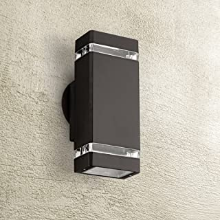 Modern Outdoor Wall Light Fixture Halogen Bronze 10 1/2