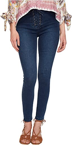High Lace Leggings - Indigo