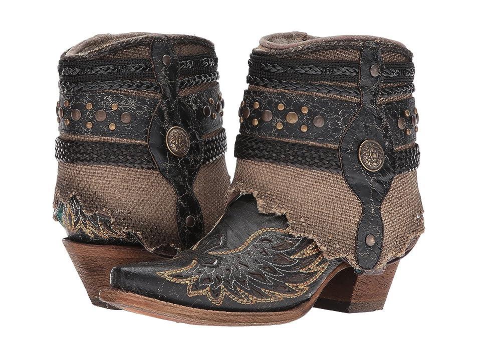Corral Boots A3461 (Black/Bone) Cowboy Boots