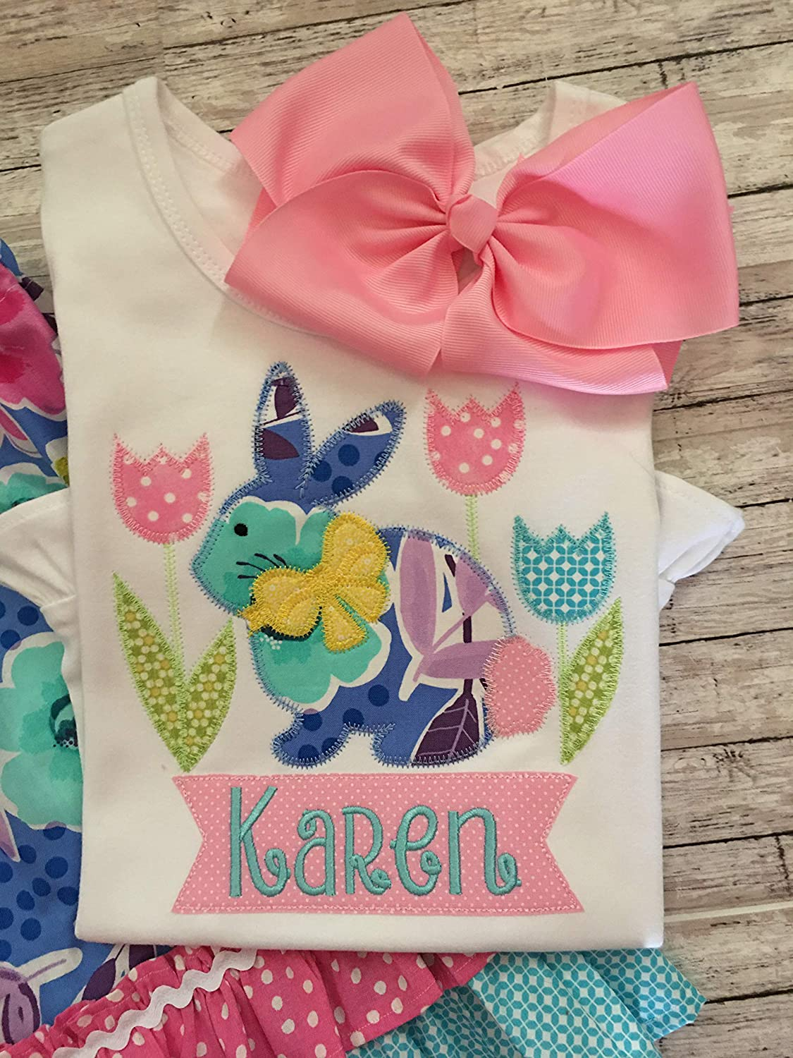 Girls Easter Bunny Shirt Spring Personalized Washington Our shop OFFers the best service Mall Top