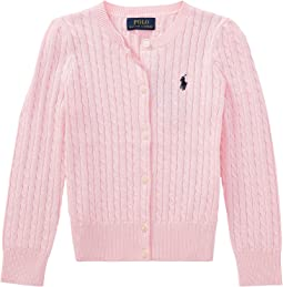 Polo Ralph Lauren Kids Cable Knit Cotton Cardigan (Little Kids)