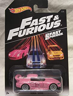 Hot Wheels CUSTOM Pink HONDA S2000 Fast & Furious Real Riders Rubber Wheels Limited Edition 1/1 Made!