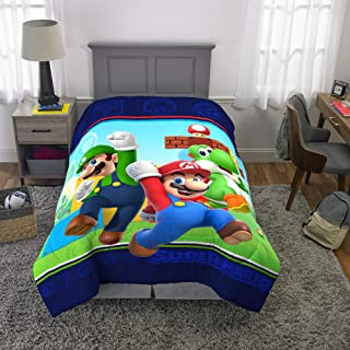 "Franco Kids Bedding Super Soft Comforter, Twin Size 64"" x 86 Mario"