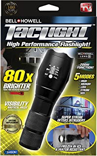 Bell + Howell 1308 Taclight High-Powered Tactical Flashlight with 5 Modes & Zoom Function (80x Brighter)
