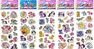 6 Sheets Puffy Dimensional Scrapbooking Party Favor Stickers + 18 FREE Scratch and Sniff Stickers - MY LITTLE PONY
