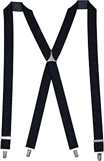 Buckle | 1922 Men's Fancy Y Pattern on Navy 35mm Braces with Nickel Clips, Navy, One size