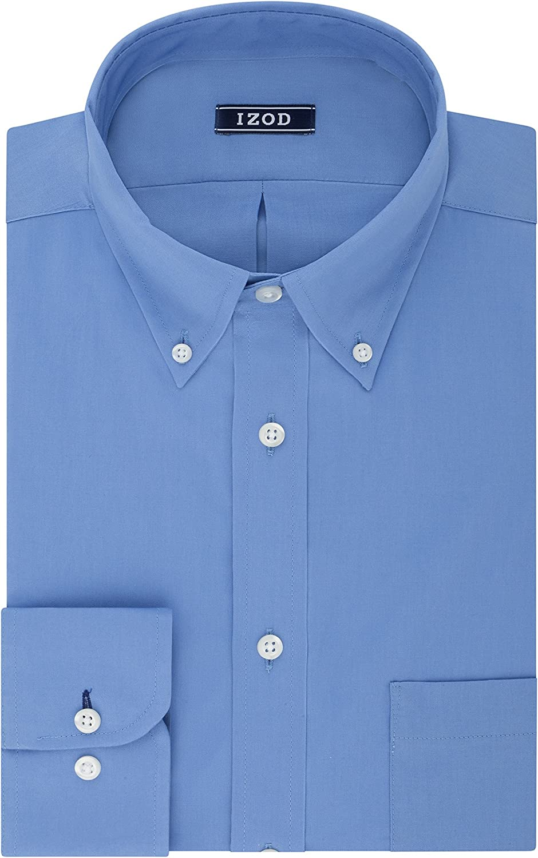 Izod Men's BIG FIT Dress Shirts Stretch Solid (Big and Tall)