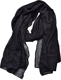 Women's Cotton Scarves Lady Light Soft Fashion Solid Scarf Wrap Shawl