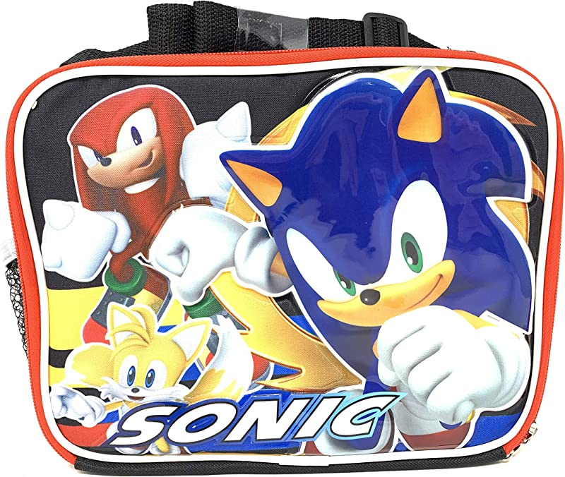Sonic The Hedgehog Sonic Shadow Tails And Knuckles Insulated Lunch Bag