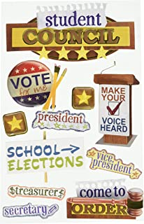 Paper House Productions STDM-0060E 3D Cardstock Stickers, Student Council
