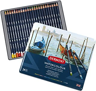 Derwent Watercolour Pencils, Painting & Drawing, Set Of 24, Ideal For Blending & Layering, Professional Quality, 32883