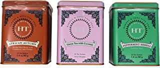 Harney & Sons Fine Tea Sachet Collection Classic-African Autumn 1.4 Ounce - Green Tea With Coconut 1.4 Ounce- Peppermint H...