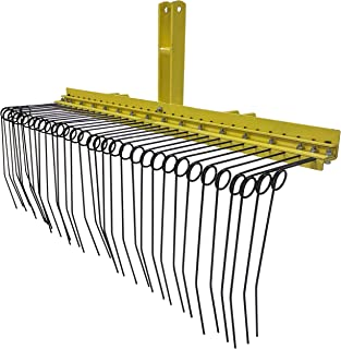 Titan 5 ft 3 Point Pine Straw Needle Rake for Cat 1, 3 Point