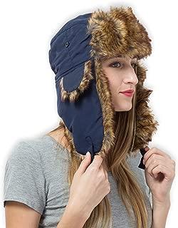 snow camo trapper hat