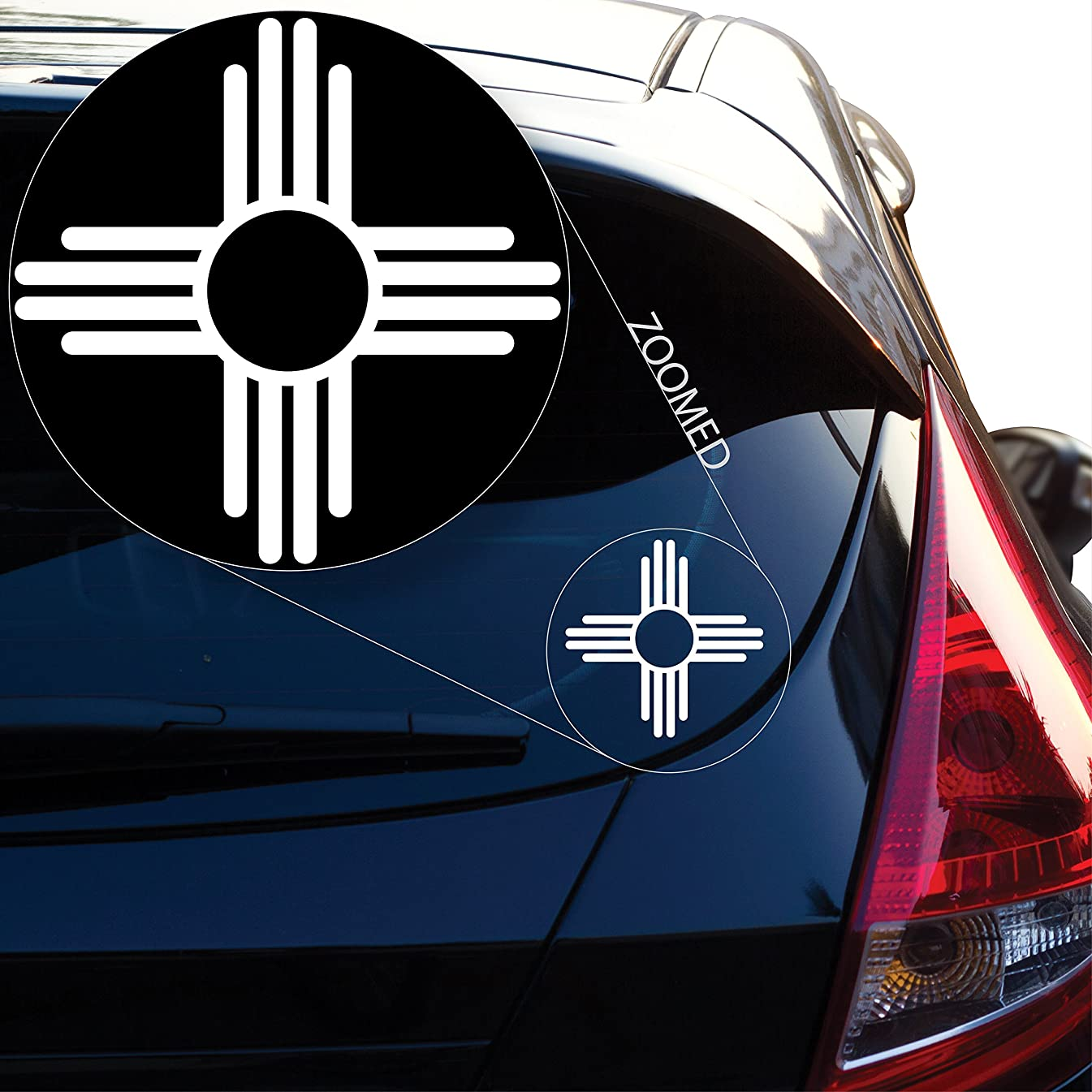 Yoonek Graphics New Mexico Flag logo Decal Sticker for Car Window, Laptop and More. #573 (4