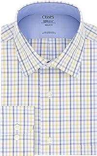 Chaps Men's Dress Shirt Regular Fit Stretch Collar Cool Max Check