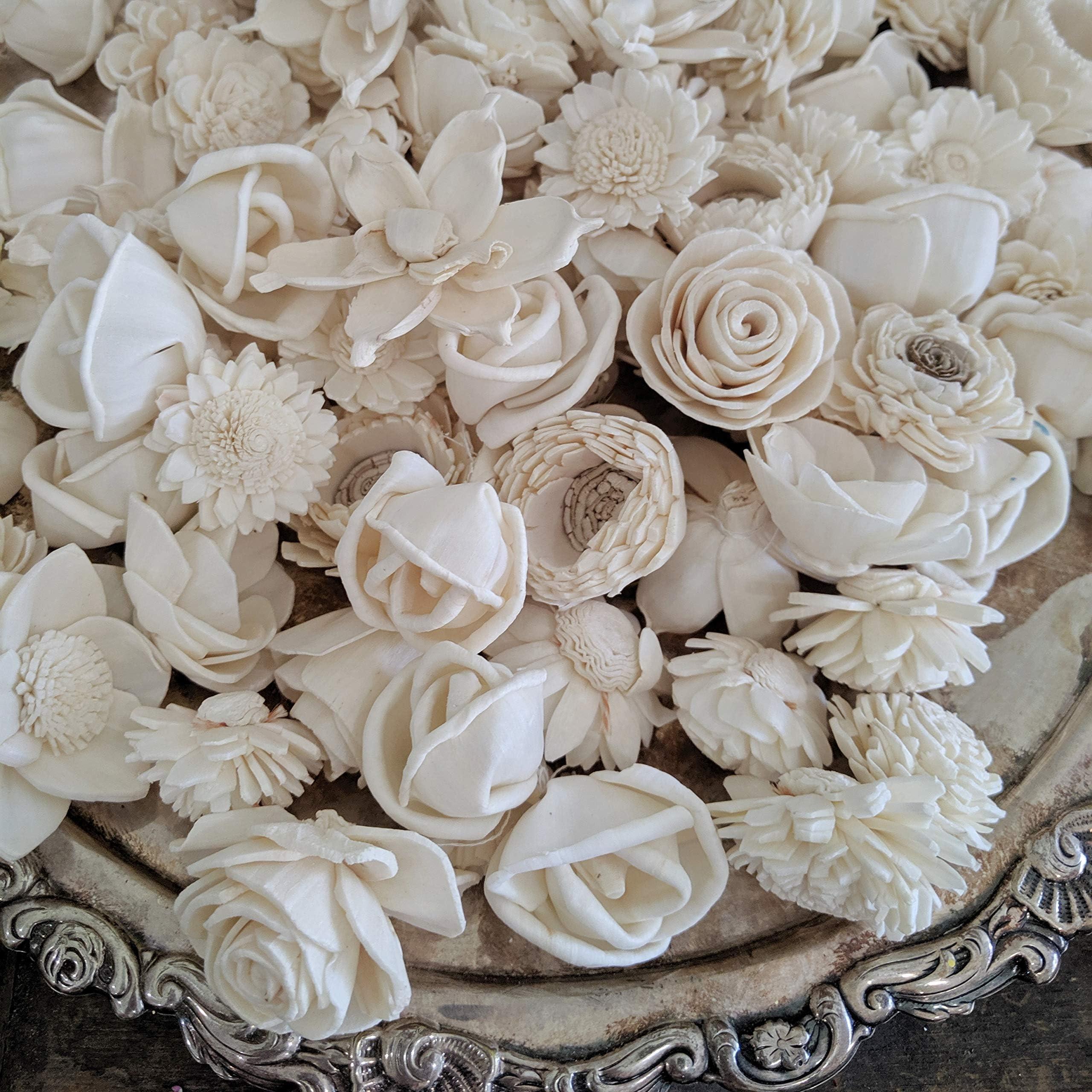 100 pack of mini Sola flowers assortment