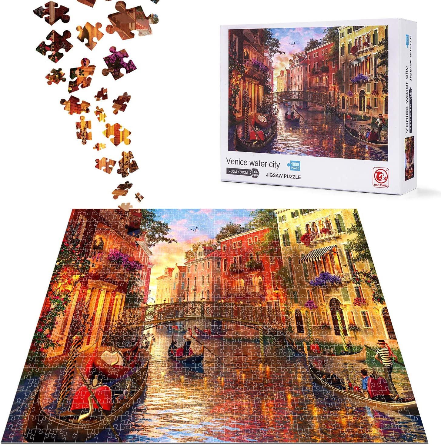 Jigsaw Puzzle Limited time cheap sale for Adults 1000 Max 73% OFF Pieces City ACSTEP Water A Venice