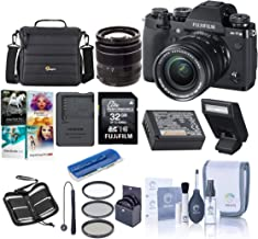 Fujifilm X-T3 26.1MP Mirrorless Camera with XF 18-55mm f/2.8-4 R LM OIS Lens, Black - Bundle with 32GB SDHC Card, Camera Case, 58mm Filter Kit, Cleaning Kit, Card Reader, PC Software Pack and More