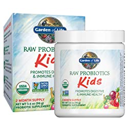 Garden of Life - RAW Probiotics Kids - Acidophilus and Bifidobacteria Organic Probiotic Supports Dig
