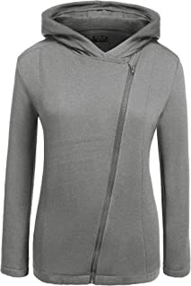 IN'VOLAND Womens Plus Size Inclined Full Zip up Thermal Fleece Hoodies,Fashion Sweatshirt Jacket