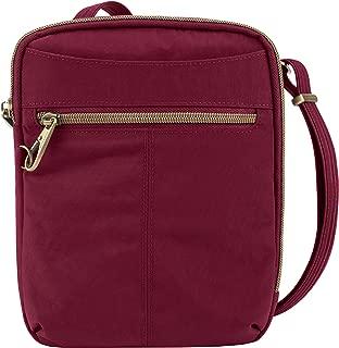 Travelon Anti-theft Signature Slim Day Bag, Ruby