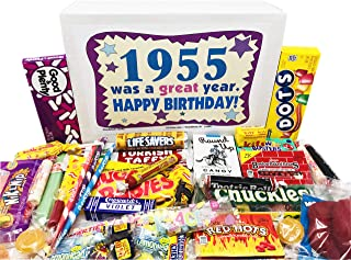 Woodstock Candy ~ 1955 65th Birthday Gift Box of Nostalgic Retro Candy Mix from Childhood for 65 Year Old Man or Woman Born 1955 Jr