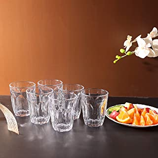 Royalford Glass Tumbler Set, 6 pieces erfect for Home, Restaurants and Parties | Dishwasher…