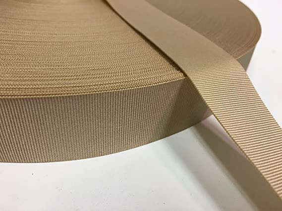Coyote Brown Nylon Grosgrain Ribbon 3//4 inch wide x 10 yards Military Spec