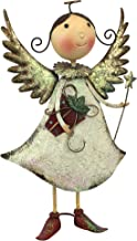 Design Toscano Clara Holiday Helper Metal Angel Statue