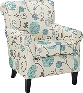 Christopher Knight Home Roseville Blue Floral Accent Lounge Chair, Decorative Club Chair..