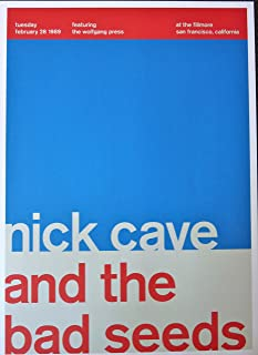 Nick Cave and The Bad Seeds - Live at The Fillmore - Concert Gig Poster - 10