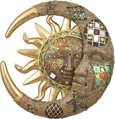 """George S. Chen Imports 7863069 Polyresin Mosaic-Celestial Gold 8"""" high"""