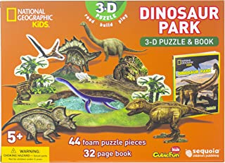 National Geographic - Dinosaur Park 3-D Puzzle & Book