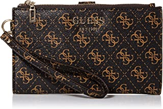 GUESS womens Logo Rock Double Zip Organizer Wallet