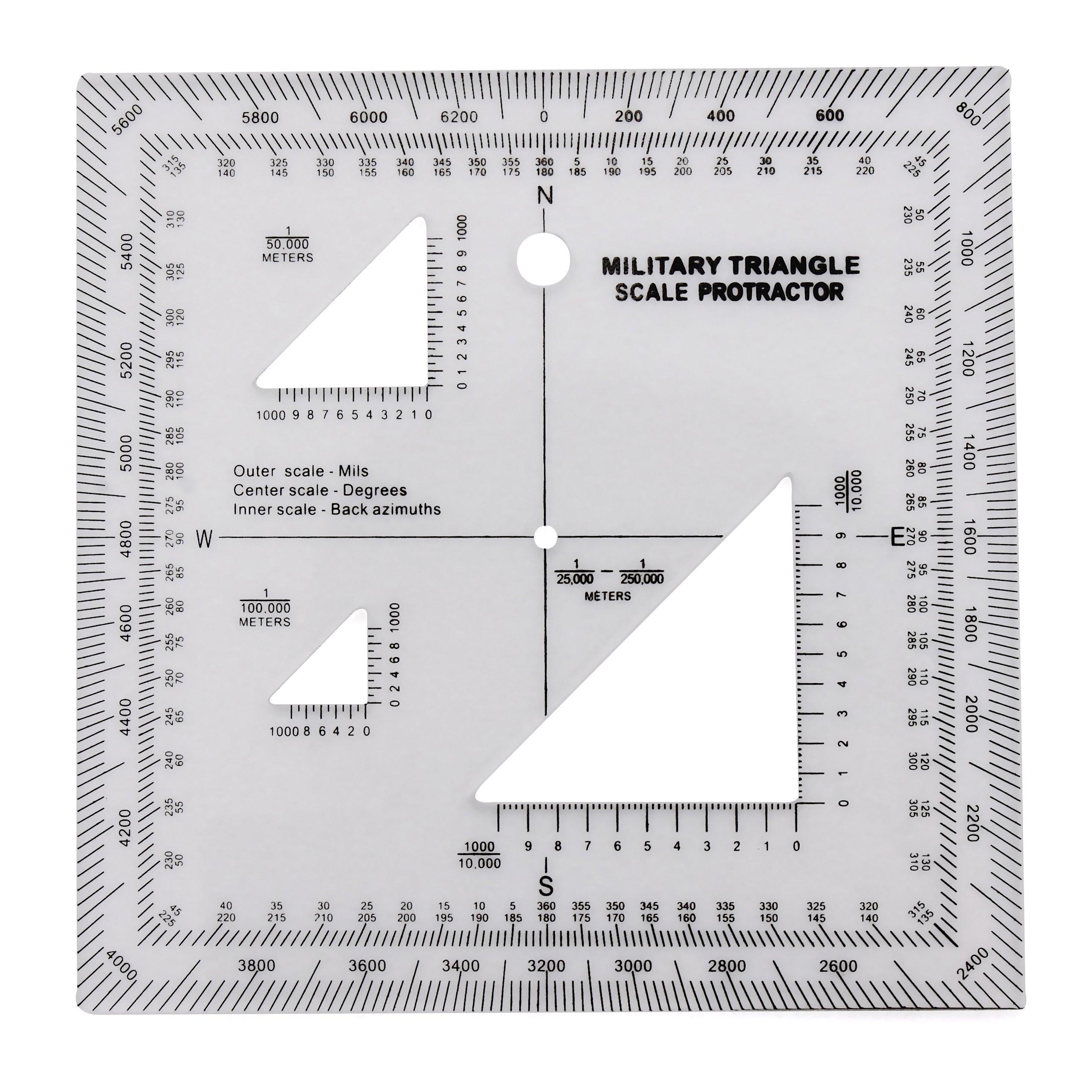 Militar UTM/Mgrs coordinar escala – mapa leer y tierra navegación – mapa topográfico escala, transportador de ángulos