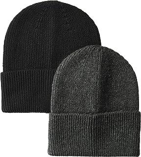 Amazon Essentials Men's Standard 2-Pack Knit Hat