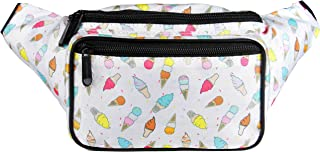 SoJourner Bum Bag Fanny Pack Ice Cream | for women, men and kids | cute fits small medium large